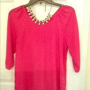 Pink blouse; size M